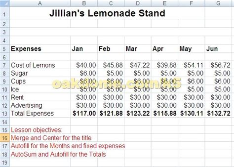 lemonade stand business plan template 17 best images about excel on the office