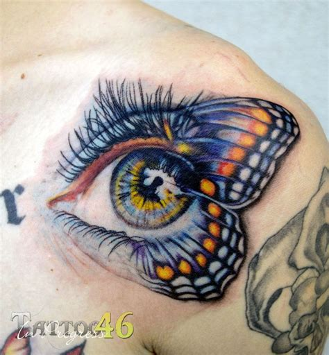 tattoo butterfly with eyes butterfly eye tattoo i designed to fill a space on andrews