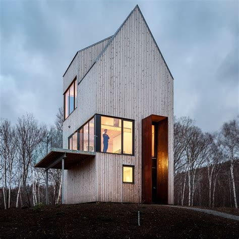 10 Houses Featuring Excessively Steep Gable Roofs Dezeen Steep Pitched Roof House Plans