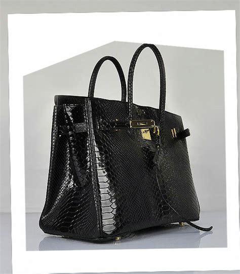 Hermes Birkin Croco Snake hermes birkin 35cm black snake veins leather bag golden