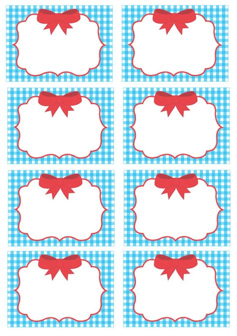 printable gingham labels items similar to wizard of oz blue gingham blank labels