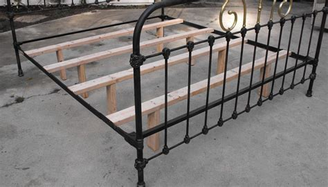 Antique Metal Bed Frame Furniture How Can I Update This Stubborn Antique Bed Frame So The Mattress Fits Properly