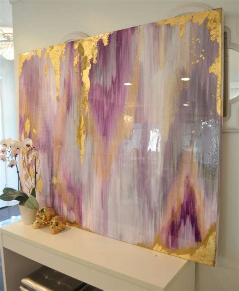 glass acrylic painting sold acrylic abstract art large canvas painting gray