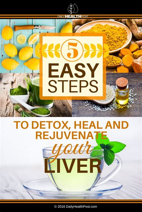 Detox Your In 4 Easy Steps by 5 Easy Steps To Detox Heal And Rejuvenate Your Liver