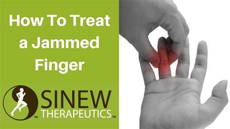 how to finger how to treat a jammed finger and speed recovery youtube