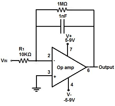 input of integrator op how to build a integrator op circuit