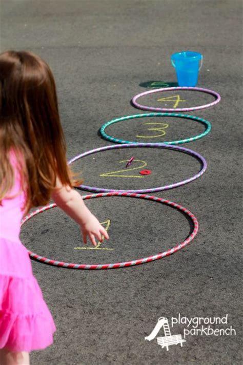 throwing beanbags into hoops 5 packed hula hoop for