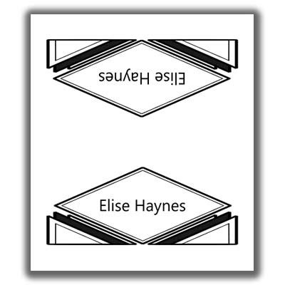 sided place card template place card template 6