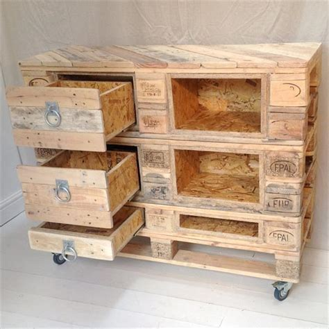 Drawers Diy by Diy Pallet Chest With Drawers 101 Pallets