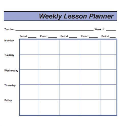 weekly lesson plan template sle lesson plan 9 documents in pdf word