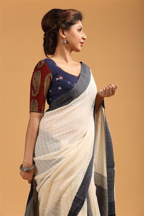 Set Rosha Setelan Blouse Rok Linen Motif Flower kalamkari work designer fashion blouse designs for saree