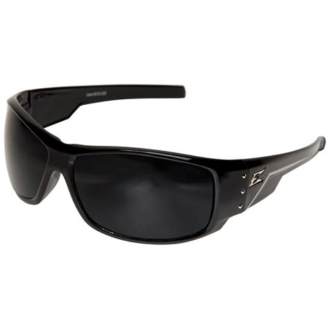 edge thz216 caraz safety glasses black frame smoke