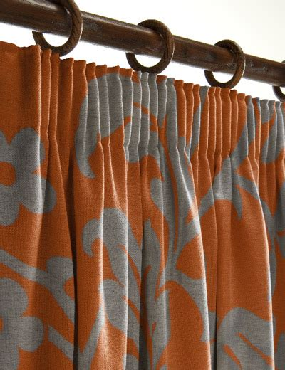 orange and grey curtains details for gusto orange next made to measure