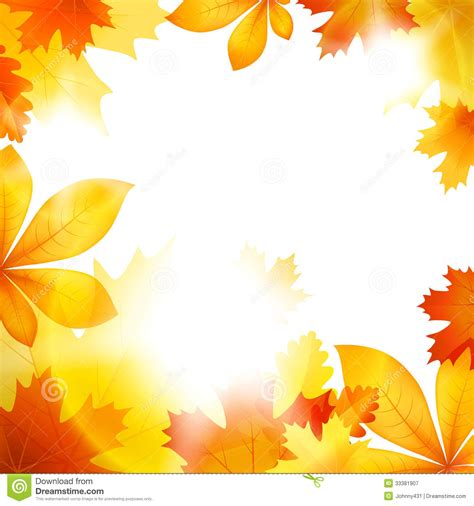 Autumn Leaf Fall Stock Vector Illustration Of Leaves 33381907 Fall Leaves On White Background