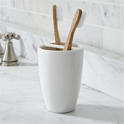 bathroom toothbrush storage pure toothbrush holder crate and barrel