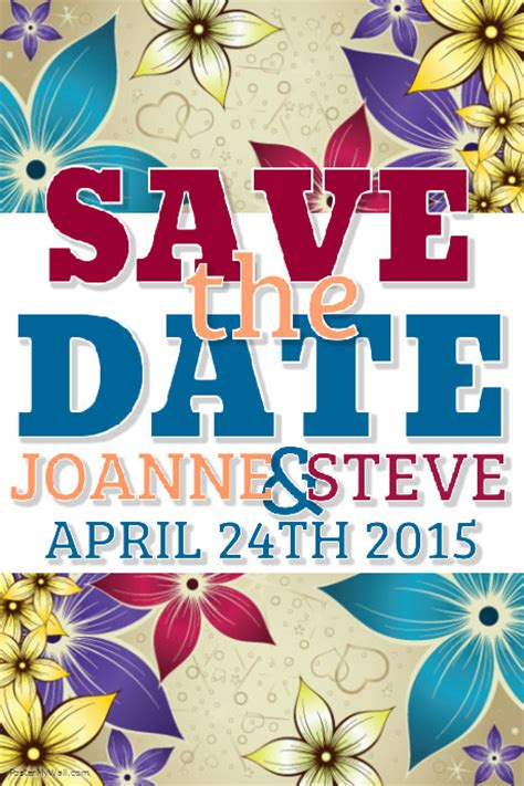Save The Date Template Postermywall Save The Date Flyer Template