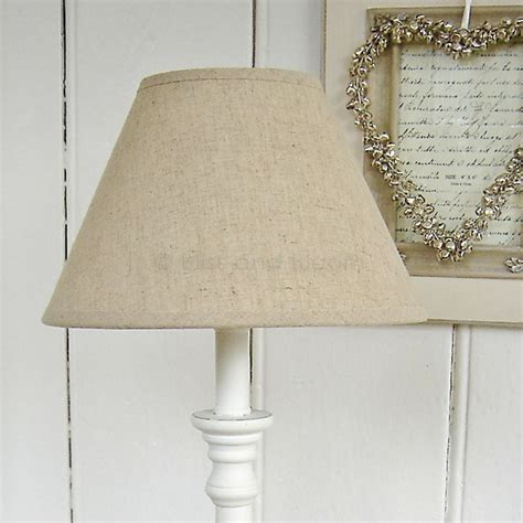 White Table Lamp Linen Shade   Bliss and Bloom