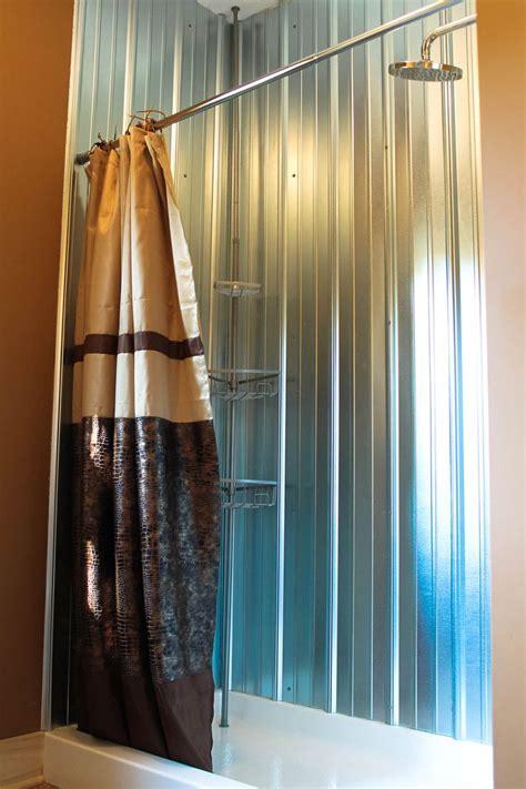 galvanized metal shower walls   barn siding