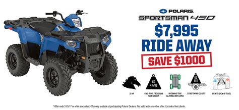 special offers polaris off road vehicles special offers incentives polaris off road vehicles