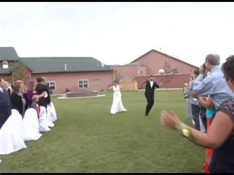 Best Bride entrance down the aisle ever!!   YouTube have a