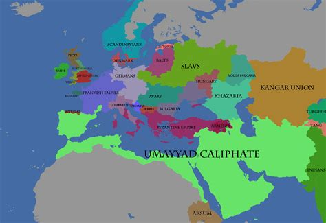 the caliphate map of the umayyad caliphate at its height 1620x1112 oc map porn