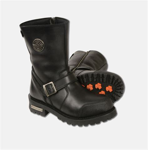 real leather classic engineer boot w abrasion guard