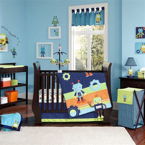 Nojo Baby Bots Nursery Collection Baby Bedding And Robot Crib Bedding
