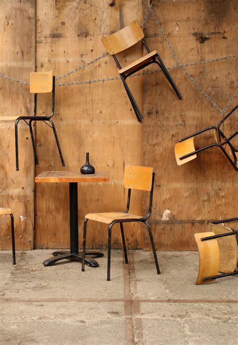 jaren 30 design len geweldige franse industrieel vintage schoolstoelen jaren