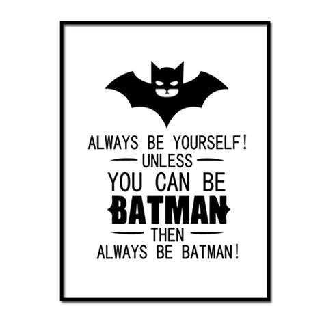 Exclusive Hoodie You Can Be Batman canvas prints always be yourself or superman batman