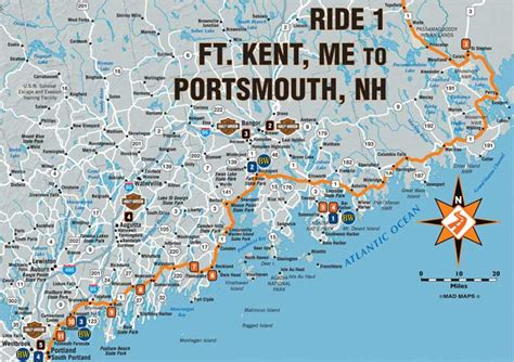 official harley davidson tour maps