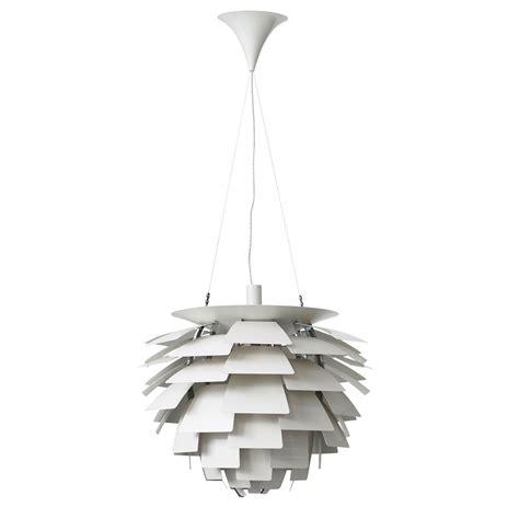 poul henningsen  ph artichoke white lacquered ceiling lamp louis poulsen denmark bukowskis