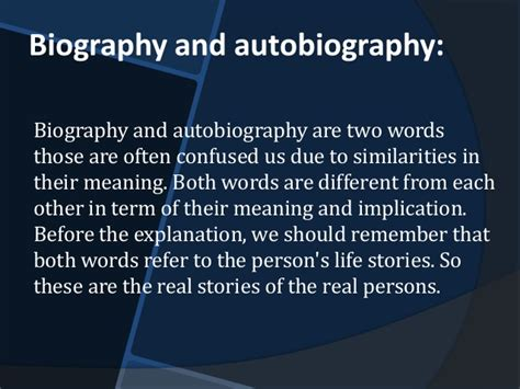 meaning of biography and autobiography biography and autobiography in social sciences