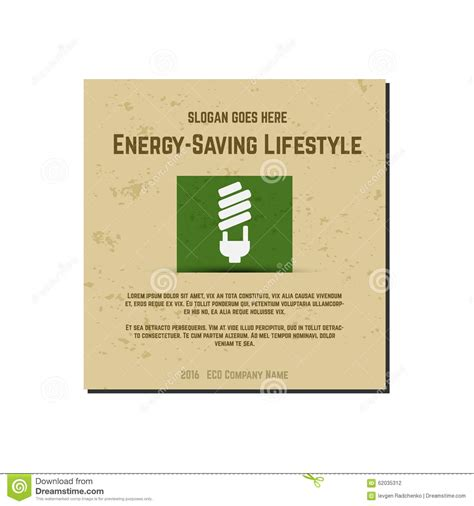 Energy Saving Card Kartu Penghemat Energy nature banner ecology poster with text for stock vector image 62035312