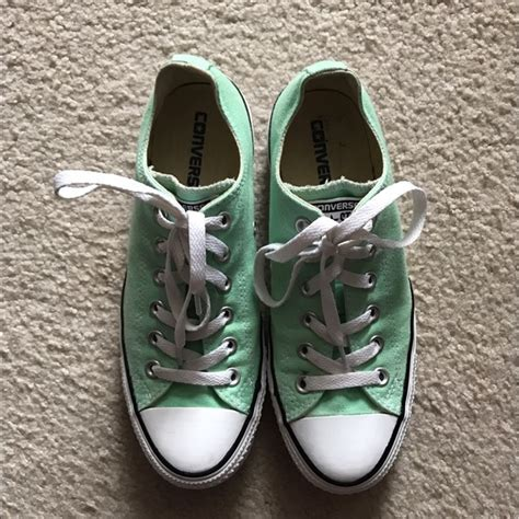 mint colored converse 42 converse shoes mint colored classic converse
