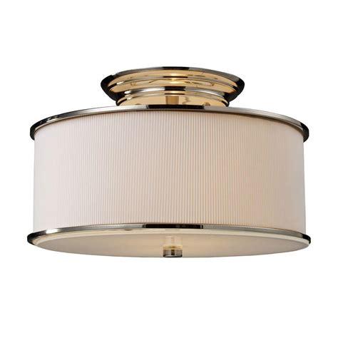 polished nickel flush mount ceiling light titan lighting lureau 2 light polished nickel ceiling semi