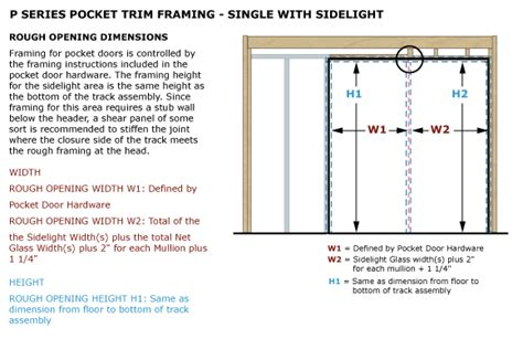 28 Inch Door Frame Kit by Pocket Trim Kit Single With Sidelight Timely Industries
