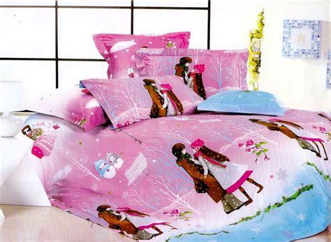 sprei set bedcover katun sprei dan bedcover winter bahan katun sateen