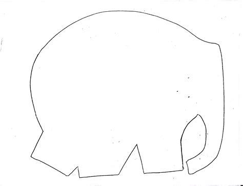 blank elephant template metamora community preschool elmer the elephant
