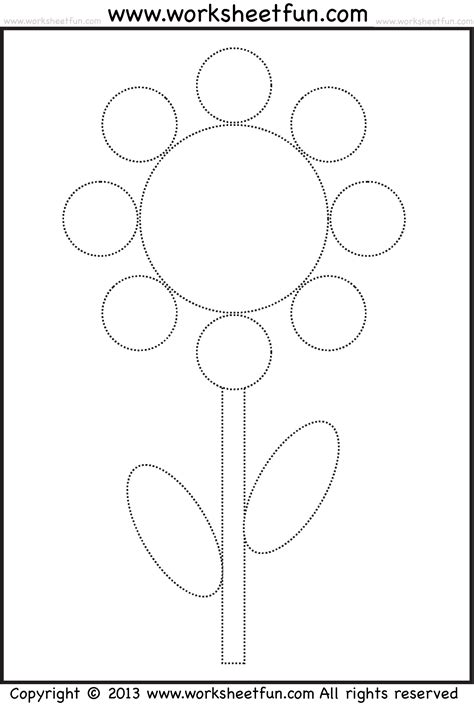 flowers printable worksheets shape tracing and coloring worksheet circle oval