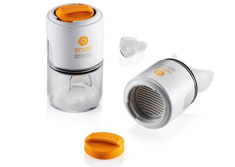 kitchen product design small mask providing 5 min of filtered air wordlesstech