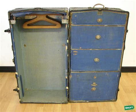 Antique Wardrobe Steamer Trunk Value by Antique Neverbreak Wardrobe Steamer Trunk W Drawers Nr