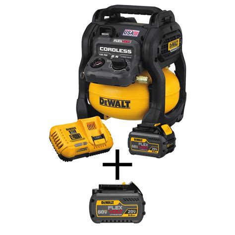 dewalt 2 5 gal 60v brushless cordless electric air compressor 2 battery charger 885911002769 ebay