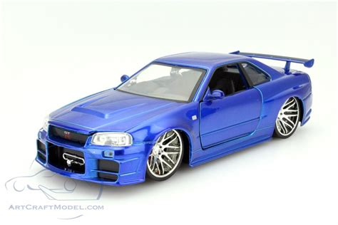 Brian 180 S Nissan Skyline Gt R R34 Fast And Furious Blue