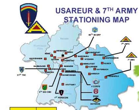 map of us bases in germany the number of u s bases in germany u s