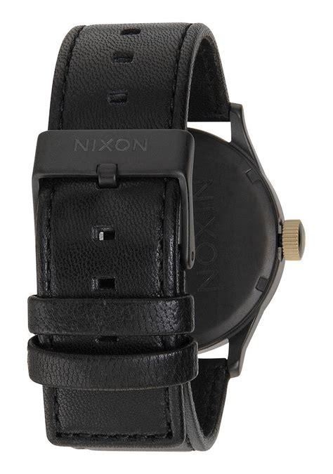 Nixon Mens A1051041 Sentry nixon the sentry leather matte black gold 180 s nur
