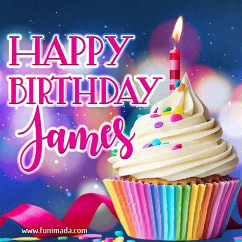 happy birthday james lovely animated gif   funimadacom