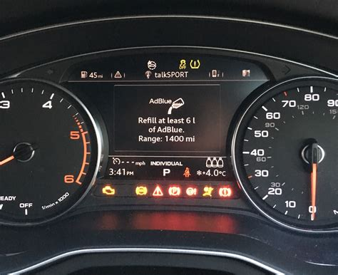 Audi A4 Adblue by Ad Blue Miles Until Fill Up Notice Audi Sport Net