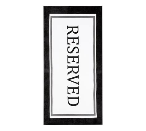 Reserved Printed Beach Towel   Pottery Barn