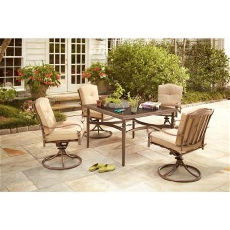 home depot patio dining sets hton bay eastham 5 patio dining set 723 002 004