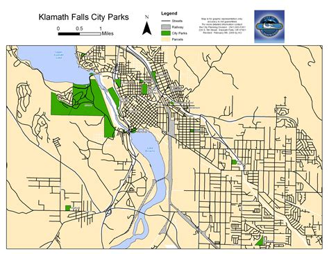 map of oregon falls city of klamath falls parks
